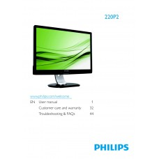 Philips 220P2E 22 inch Monitor